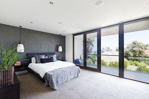 camera da letto minimalista