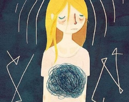 Ragazza con ansia