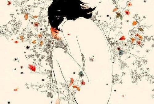 ragazza tra fiori