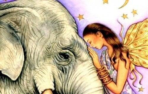 donna-con-elefante