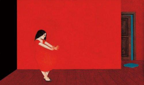 donna-e-parete-rossa questioni in sospeso