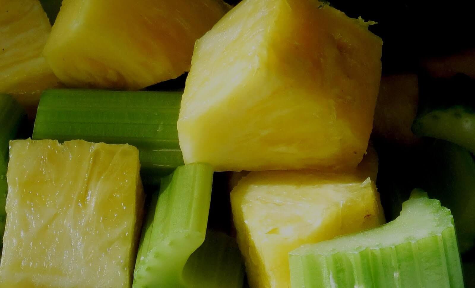 ananas e sedano