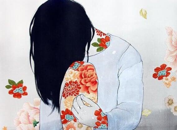 donna-con-vestito-a-fiori