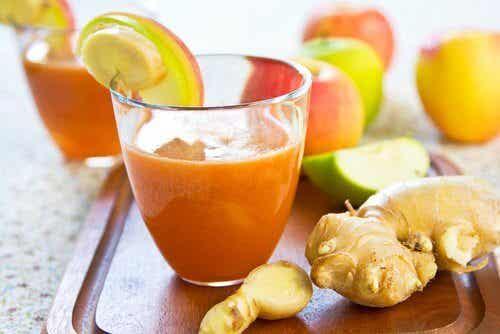 I benefici effetti del frullato di carote e zenzero