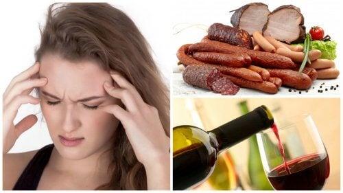 9 alimenti e bevande che possono provocare l'emicrania