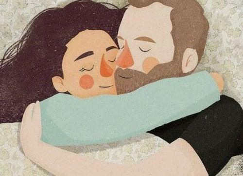 abbracci e piccoli gesti per coltivare l'amore