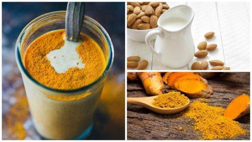 Antinfiammatorio naturale alla curcuma e latte di mandorle