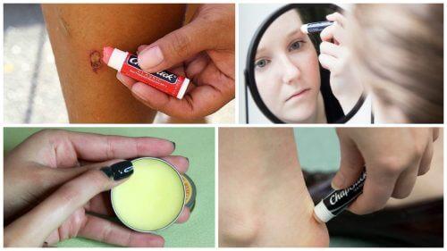 10 usi alternativi del balsamo per labbra