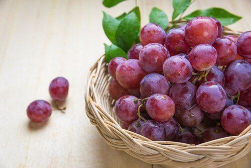 uva e  alimenti energetici