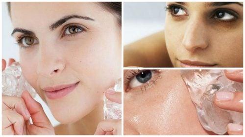 Un cubetto di ghiaccio sulla pelle: 7 benefici