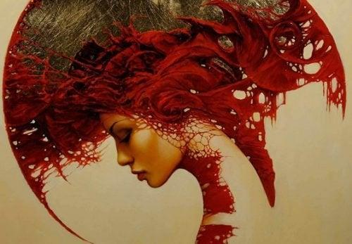 Profilo con rosso