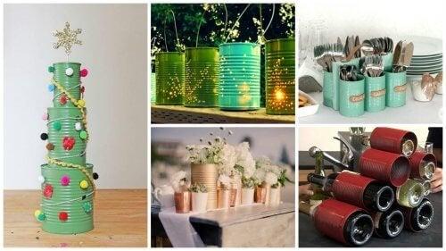 19 modi creativi per riciclare le lattine