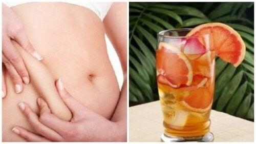 Bevanda al tè verde, pompelmo e menta per accelerare il metabolismo