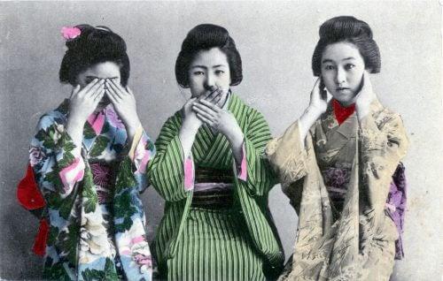 Tre geishe