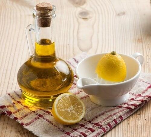 olio e limone per ridurre i livelli di acido urico