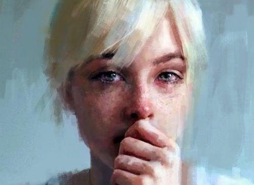 ragazza lacrime depressione
