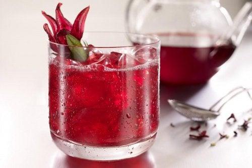 karkadé in bicchiere