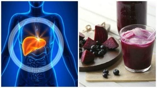 Favorire la disintossicazione del fegato con un frullato a base di mirtilli e barbabietola