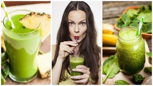 5 frullati verdi per depurare il corpo e perdere peso