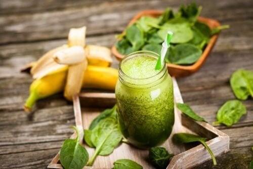 succhi verdi alla banana