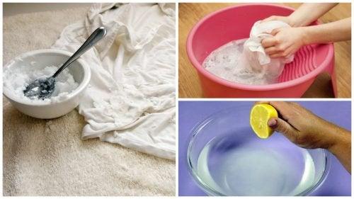 5 trucchi per lavare e sbiancare i vestiti