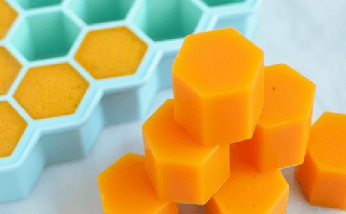 dadi esagonali di gelatina