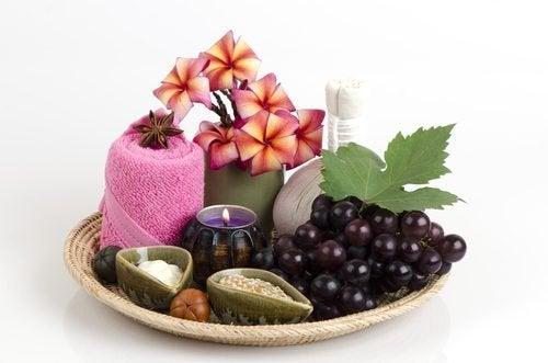 Maschera a base d'uva