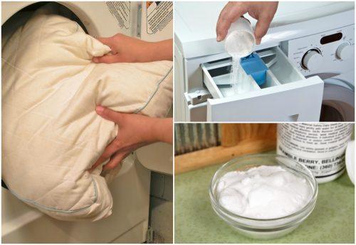 5 favolosi trucchi per sbiancare e disinfettare i cuscini