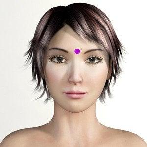 il terzo occhio è uno dei punti più comuni della digitopressione