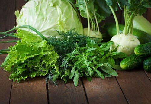 Verdure a foglia verde