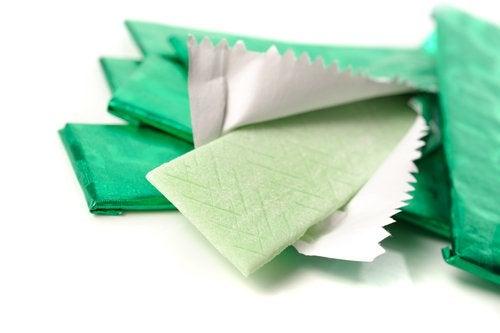gomma da masticare verde