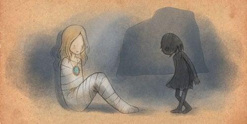 Disegno di una ragazza mummia