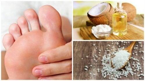 Esfoliante con olio di cocco e sale contro i calli