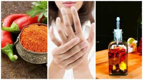 Olio al peperoncino di Cayenna per dolori articolari