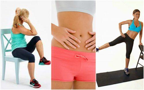 5 esercizi con la sedia per snellire la pancia