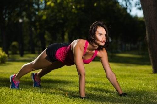 flessioni per stare in forma