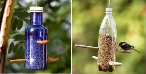 riciclare le bottiglie di plastica - mangiatoia