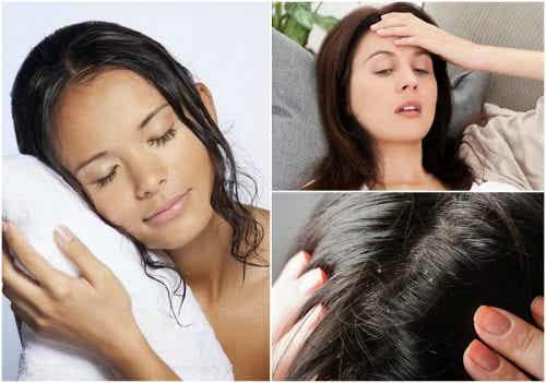 Dormire con i capelli bagnati: 8 conseguenze