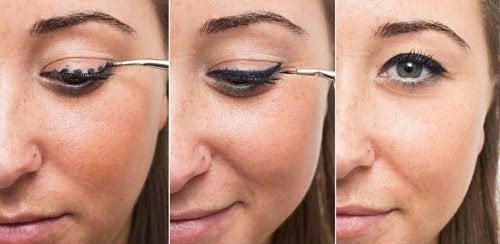 tecnica per delineare gli occhi con l'eyeliner
