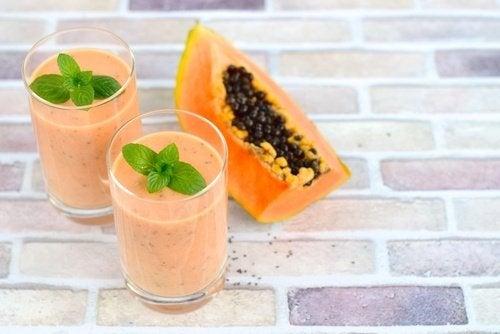 Frullato di papaya