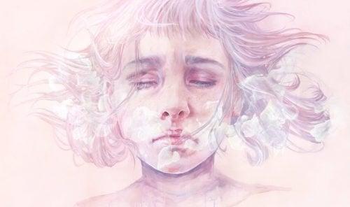 Donna con depressione maggiore