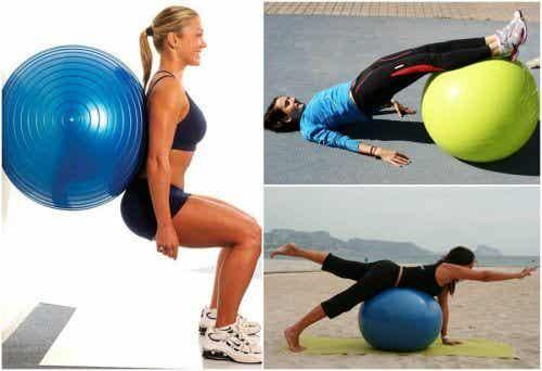 5 esercizi per i glutei con la palla da ginnastica