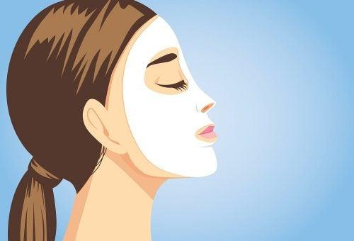 Viso raggiante con 5 maschere facciali