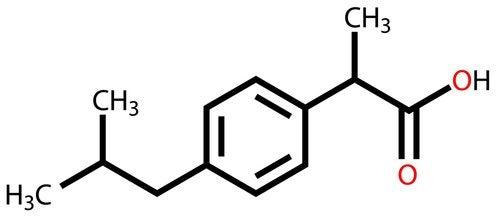 Struttura dell'ibuprofene