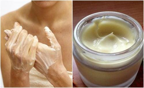 Crema per le mani con burro di cacao e vitamina E