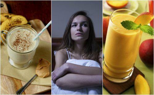 5 deliziosi frullati per combattere l'insonnia