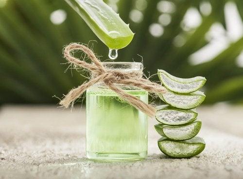 Trattamento con aloe vera e vitamina E