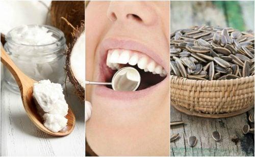 6 modi naturali per rimuovere la placca dentale
