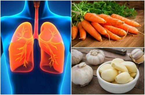 Migliorare la salute dei polmoni con 7 alimenti