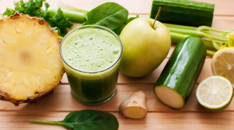 Detox ananas e cetriolo